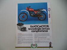 advertising Pubblicità 1982 MOTO FANTIC RSX 125