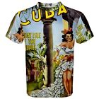 Cuba Holiday Isle of the Tropics Sublimated Sublimation T-Shirt S,M,L,XL,2XL,3XL