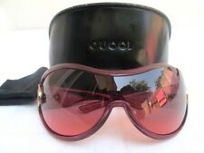 AUTHENTIC..GUCCI..WRAP AROUND..ROSE COLORED..SUNGLASSES w CASE