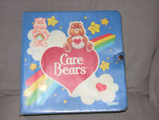 VINTAGE CARE BEARS LOT PVC TOY POSEABLE & MINI FIGURES W/ CASE KENNER 80's