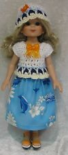 """BETSY McCALL 14"""" Doll Clothes #05 Hat, Top & Skirt Set  13"""" LES CHERIES Corolle"""