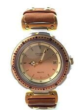 OROLOGIO ORIENT QUARTZ WATCH MADE IN JAPAN DATA WATER RESISTENT B670Z2 GOLD PELL
