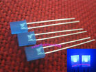 100pcs 2x5x7mm Blue Diffused LED Rectangle Rectangular Leds + Resistors for 12V