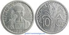 INDOCHINE  ,  ESSAI  10  CENT   1945   ,  RARE  ,    SUPERBE  À  FLEUR  DE  COIN