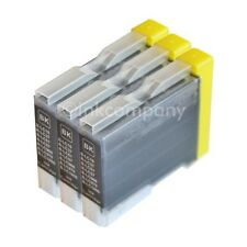 3 CARTUCCE BK per BROTHER lc970 dcp135c mfc240c dcp130c dcp150c mfc235c mfc440cn