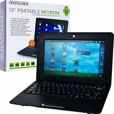 CRYSTALVIEW 10inch ANDROID 2.2 NETBOOK TABLET W/ Keyboard 3-USB SD CARD