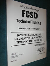 2002 FORD EXPEDITION LINCOLN NAVIGATOR TECH TRAINING MANUAL / ORIGINAL FORD BOOK