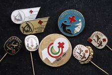 Hungary Hungarian 8 Red Cross Blood Donor Donation 100 Years Badge Lot Medal