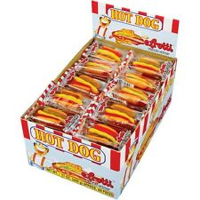 60ct BOX E.FRUTTI GUMMI MINI HOTDOGS CANDY / EFRUTTI  HOTDOG CANDIES