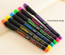 6pcs/set LED Writing Board Pens Highlighter Fluorescent Liquid Chalk Marker