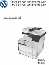 HP LaserJet Pro M375 / M475 MFP Printer Service Repair Manual (Parts & Diagrams)