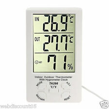 LCD Digital Indoor Outdoor Hygrometer Humidity Thermometer Temperature Meter