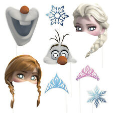 8 Disney Frozen Elsa Anna Olaf Birthday Party Favor Treat Photo Props W/Stick