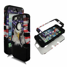 New Patriot Eagle Blk Strip PCSoftArmor for Apple iPhone 5 5S Case Cover f