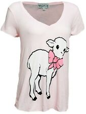 WILDFOX COUTURE LITTLE LAMB BOW TEE TOP M 12 8 40!