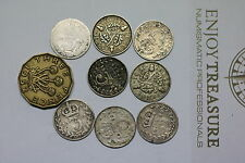 UK GB 3 PENCE LOT MANY SILVER COINS A60 FF41