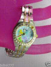 P93:New $34.99 Disney TinkerBell Women's Analog Watch-Two Tone