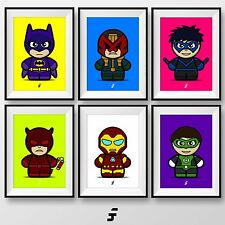 MARVEL Dc Fumetto Supereroe FOTO POSTER WALL ART STAMPA REGALO a4