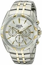 Pulsar Men's PT3684 Easy Style Chronograph Quartz Two Tone Dress Watch