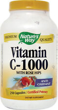 Vitamin C with Rose Hips, Nature's Way, 100 capsules 500 mg