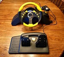 MadCatz MC2 Professional Gaming Racing Steering Wheel Pedals for PS1 PS2 XBOX