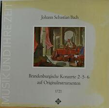 BACH BRANDENBURGISCHE KONZERTE 2 3 5 CONCENTUS MUSICUS WIEN HARNONCOURT LP c595