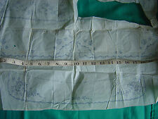 "Embroidery Transfer Vintage Collar Cuffs 15"" Length Various Pieces"