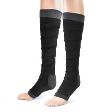 Black Varicose Vein Stocking Travel Flight DVT Relief Aching Compression Socks