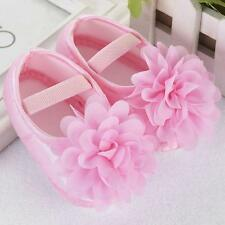 Newborn Infant Baby Girls Flower Soft Sole Shoes Fomal Dress Shoes 0-18M 13@