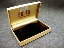 Vintage Mens Gruen The Precision Watch Presentation Box Or Case Jeweler Tag