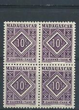 Malagasy 1947 Sc# J31 Postage due Madagascar block 4 MNH