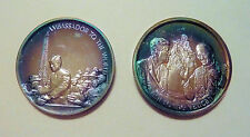 .999 Silver Medals Lincoln Mint John F. KENNEDY Series Ambassador & Pope Visit