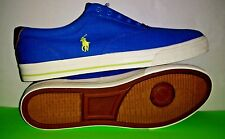 Polo Ralph Lauren Vito Skateboarding Sneaker Canvas Shoes Men Size 15 D Blue New