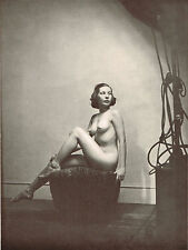 1930's Vintage Alfred Cheney Johnston Indoor Studio Female Nude Photo Print