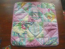 "RALPH LAUREN-RARE ""SANDY LANE"" PATCHWORK SQUARE PILLOW COVER 20""-TOO CUTE!"