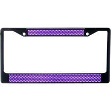 Premium Black Purple Bling Crystal Diamond License Plate Frame for Car-Truck