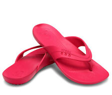 Crocs Kadee Raspberry Pink Flip Flop Thong Sandals Shoes Women's Size 8 (S388)