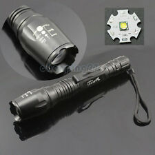Rattlesnake CREE XML-T6 1600 Lumens LED Flashlight Zoomable Torch Light 5 Modes