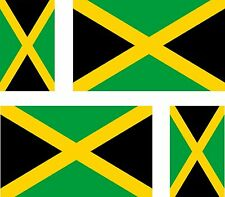 4x jamaica jamaican flag decals sticker bike scooter car vinyl luggage helmet