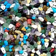 Treated Mixed Assorted Gemstone Tumbled Chips Beads (100g) *UK