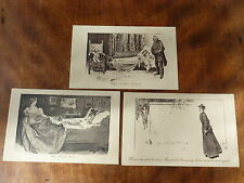 Lot03d 3x Pictorial Comedy First Love - Drs Disagree - After the Storm POSTCARDS