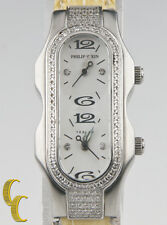 Philip Stein Signature Teslar Mini Stainless Steel Quartz Two Dial Diamond Watch