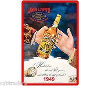 1949 James E Pepper Kentucky Straight Bourbon Refrigerator / Tool Box Magnet
