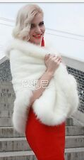 Newest Ivory Shrug Fur Wrap Shawl Bridal Wedding Warm Winter Jacket