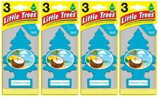 24pk Caribbean Colada Little Trees Hanging Car Air Freshners