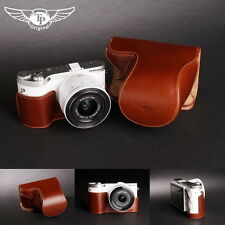 Handmade Full Real Leather Camera Case Bag Cover for Samsung NX300 20-50mm Lens