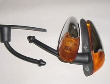 VW beetle bug 1958-1963 turn signal assembly with amber lens pair chrome complet