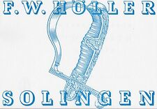 F W HOLLER / SOLINGEN German WW2 DAGGER CATALOGUE 25 Mono Plates Rare 1941 Book