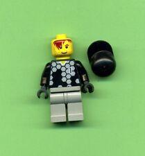 Lego--Figur--Fussballspieler-- Nr. 1-- Schwarzes Trikot---3420-Torwart