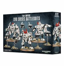 Games Workshop Warhammer 40K XV8 TAU Empire Crisis Battle Suits 9 Miniatures